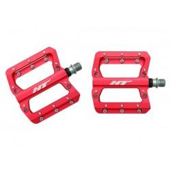 Pedali MTB flat HT Components NANO AN14A rosso