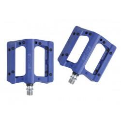 Pedali MTB flat HT Components NANO-P PA12A blu