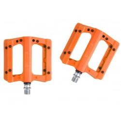 Pedali MTB flat HT Components NANO-P PA12A arancione