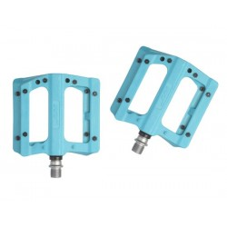 Pedali MTB flat HT Components NANO-P PA12A azzurro