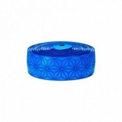 Nastro manubrio SUPACAZ SUPER STICKY KUSH blu fluo tappi blu