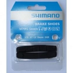 Shimano, PattiniPastiglie e ricambi pattino, V-Brake, DEORE XT /XTR (M70R2), Cartridge con pin di fissaggio, per BR-M970/960/760