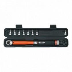 """SUPER-B chiave dinamometrica 12-60nm da 3/8"""" + bussole"""