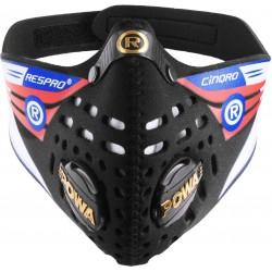Respro®, Mascherine antismog, Cinqro™ Mask, misura: M, colore nero, con due valvole 2 Powa™ Elite che permettono un più veloce a