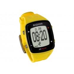 Sigma Sport, Runningcomputer, iD.RUN yellow, colore giallo, registrazione percorso e velocità con GPS, distanza percorsa, contag