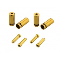 Kit terminali Jagwire Universal Pro 4.0mm  5.00mm oro