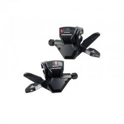 Comandi cambio destro e sinistro SHIMANO DEORE 3x9 velocità Push-Pull nero