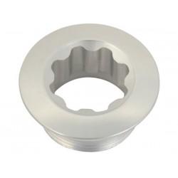 Katana vite bloccaggio pedivella in alluminio silver