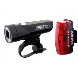 Set luci Cateye GVolt 50 HL-EL550GRC + Rapid Micro G Hl-EL620G