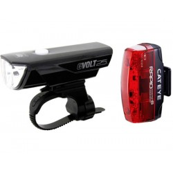 Set luci Cateye GVolt 25 HL-EL360GRC + Rapid Micro G Hl-EL620G