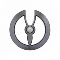 Paracatena Hebie Aeri Design 48 denti con vite in alluminio nero/trasparente