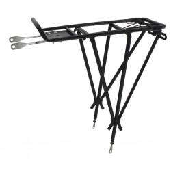 """O-Stand, Portapacchi """"ADJUST III"""", alluminio, per 26""""-29"""", regolabile, con molla di serraggio e supporto per catadiottro, max. p"""