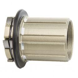 Novatec, Mozzi, Corpetto ruota libera per mozzi MTB Boost Superlight, per D462SB, alluminio, con cuscinetti cinesi, colore argen
