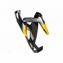 ELITE, Portaborraccia, CUSTOM RACE PLUS, nero lucido, disegni gialli, diametro regolabile