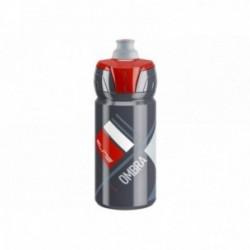 ELITE, Borraccia, OMBRA GREY, 550ml, disegni rossi, valvola Push-Pull, tecnologia tappo con elevata erogazione del liquido