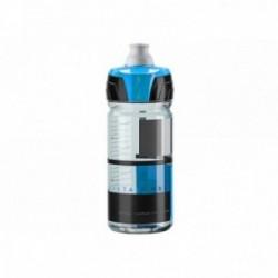 ELITE, Borraccia, CRYSTAL OMBRA FUME 750ml, disegni blu, valvola Push-Pull, tecnologia tappo con elevata erogazione del liquido