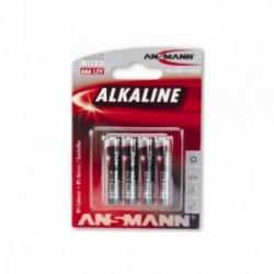Ansmann, Impianto illuminazione, Batterie, Type AAA / Mignon, a lunga durata, 4 pezzi su blister