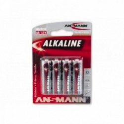 Ansmann, Impianto illuminazione, Batterie, Type AALR6 / Mignon, a lunga durata,  4 pezzi su blister