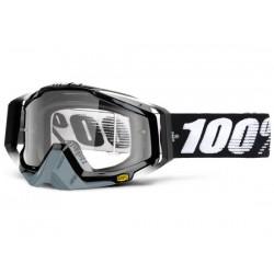 Maschera 100% Racecraft lenti chiare Anti Fog Abyss nero