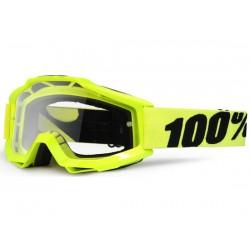 Maschera 100% Accuri - lenti chiare Anti Foggiallo fluo