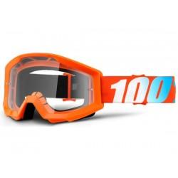 Maschera 100% Strata Orange lenti chiare Anti-Fog arancione
