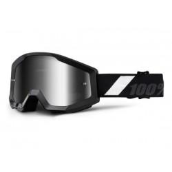 Maschera 100% Strata - Anti Fog lenti a specchio silver Goliath nero/bianco