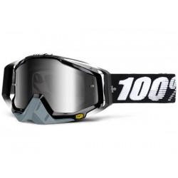 Maschera 100% Racecraft - Anti Fog lenti a specchio Abyss black/mirror
