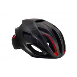 Casco strada Met Rivale HES taglia L (59 - 62 cm) nero/rosso