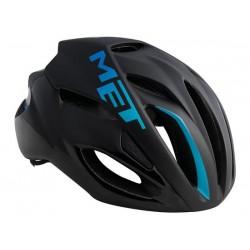 Casco strada Met Rivale HES taglia L (59 - 62 cm) nero/blu