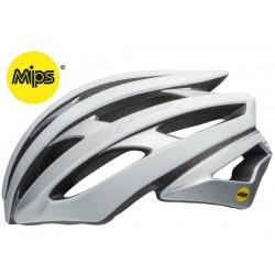 Casco strada Bell Stratus Mips Reflective taglia M (55-59 cm) bianco opaco/silver reflex