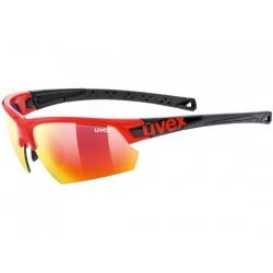 Occhiali Uvex sportstyle 224 rosso/nero taglia unica