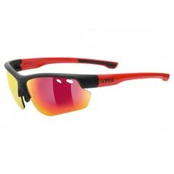 Occhiali Uvex sportstyle 115 nero/rosso