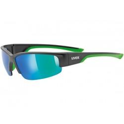 Occhiali Uvex sportstyle 215 nero opaco/verde taglia unica