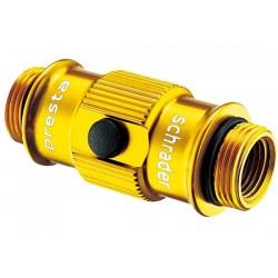 Lezyne ABS Flip-Thread Chuck raccordoper valvola colore oro