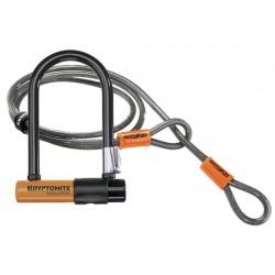 Lucchetto U-Lock Kryptonite Evolution Mini-7 con KryptoFlex 120cm arancione/nero/silver
