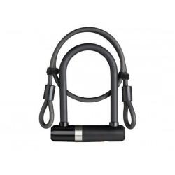 Lucchetto U-Lock Axa Mini U- 14x150mm con cavo 8mmx100cm nero