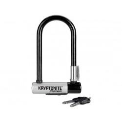Lucchetto U-Lock Kryptonite KryptoLok Mini-7 nero con supporto telaio Flexframe
