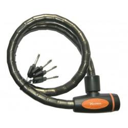 Lucchetto a spirale Master Lock 8228 PanzR grigio scuro