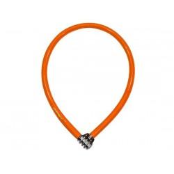 Lucchetto a spirale Kryptonite Keeper 665 Combo arancione