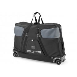 ELITE, Trasporto bici, BORSON Bike Bag, compatibile con sganci rapidi e perni passanti, nero / grigio