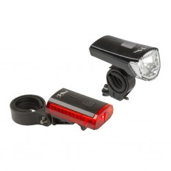 """M-WAVE, Impianto illuminazione, Set luci """"ATLAS K11"""", faretto a batterie e USB Nr. 220407 70 Lume / 28 Lux + faretto posteriore"""