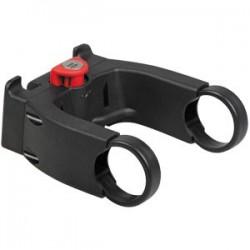 RIXEN & KAUL, KLICKfix, Adattatore per manubrio, da poter chiudere a chiave,  adatto a quasi tutti i tipi di manubrio da 22 a 26