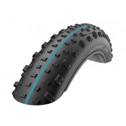 Pneumatico pieghevole Schwalbe Jumbo Jim Evo Addix Fatbike 26x4,40 SnakeSkin TL-Easy SpeedGrip striscia blu