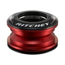 """Ritchey, Serie sterzo, SUPERLOGIC Zero Press Fit, semi integrato, 1 1/8"""" superiore 1 1/8"""" inferiore, ZS44/28.6, colore nero/ross"""