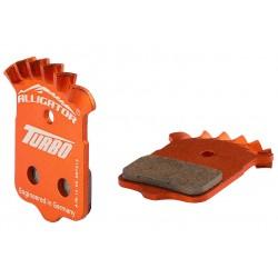 Alligator, Pastiglie e ricambi pattino, DISC BRAKE, HK-TB036-DIY+, organiche, supporto in alluminio, con sistema di raffreddamen
