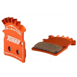 Alligator, Pastiglie e ricambi pattino, DISC BRAKE, HK-TB018-DIY+, organiche, supporto in alluminio, con sistema di raffreddamen
