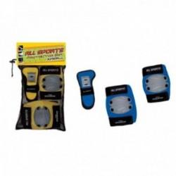 Sport-One Set protezione All Sport ginocchiere, gomitiere e polsiere