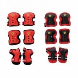 Set protezioni bambino Ferrari ginocchiere, gomitiere e polsiere