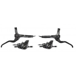Shimano, Set freni a disco, MT201 (ANTERIORE), colore nero, leva freno nera BL-MT201, pinza BR-MT200 Post Mount Type, pastiglia