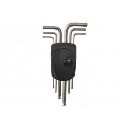 absolut, Accessori da officina, set chiavi a brugola, 2 - 2.5 - 3 - 4 - 5 - 6mm, acciaio, maniglia ergonomica